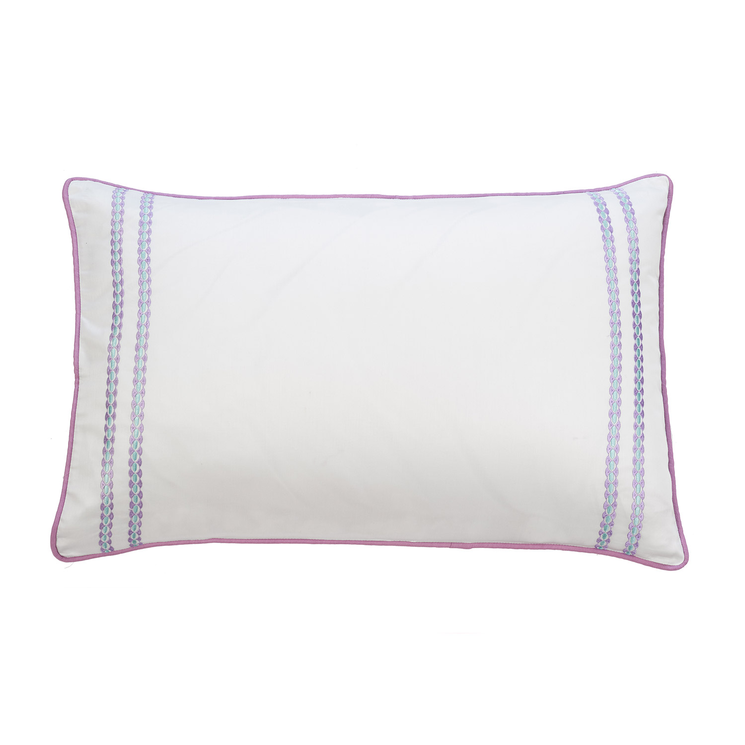 Stockists of Abigail Duck Egg Pure Cotton Embroidered Housewife Pillow Cases (Pair)