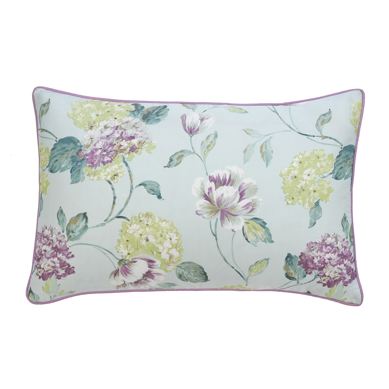 Stockists of Abigail Duck Egg Pure Cotton Printed Housewife Pillow Cases (Pair)