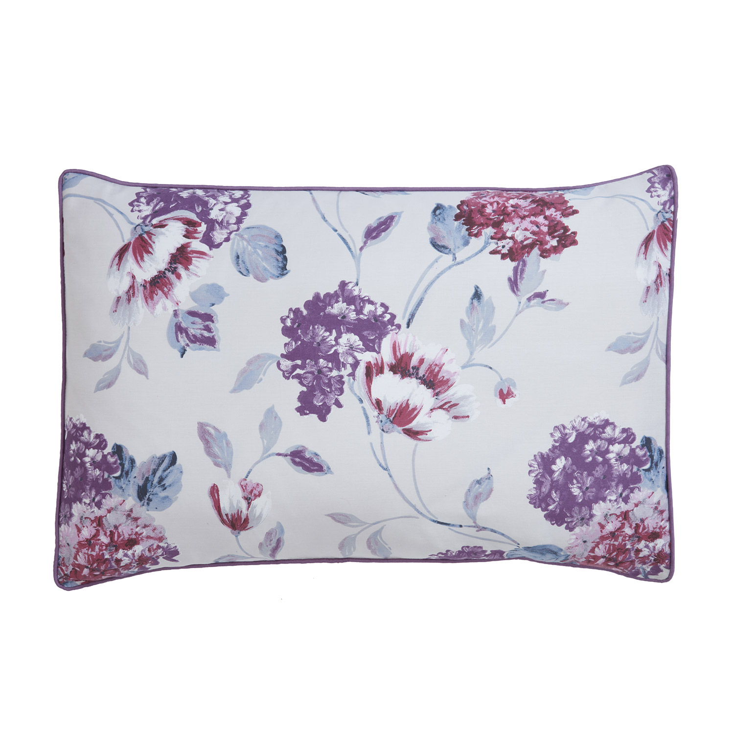 Abigail Plum Pure Cotton Printed Housewife Pillow Cases (Pair)