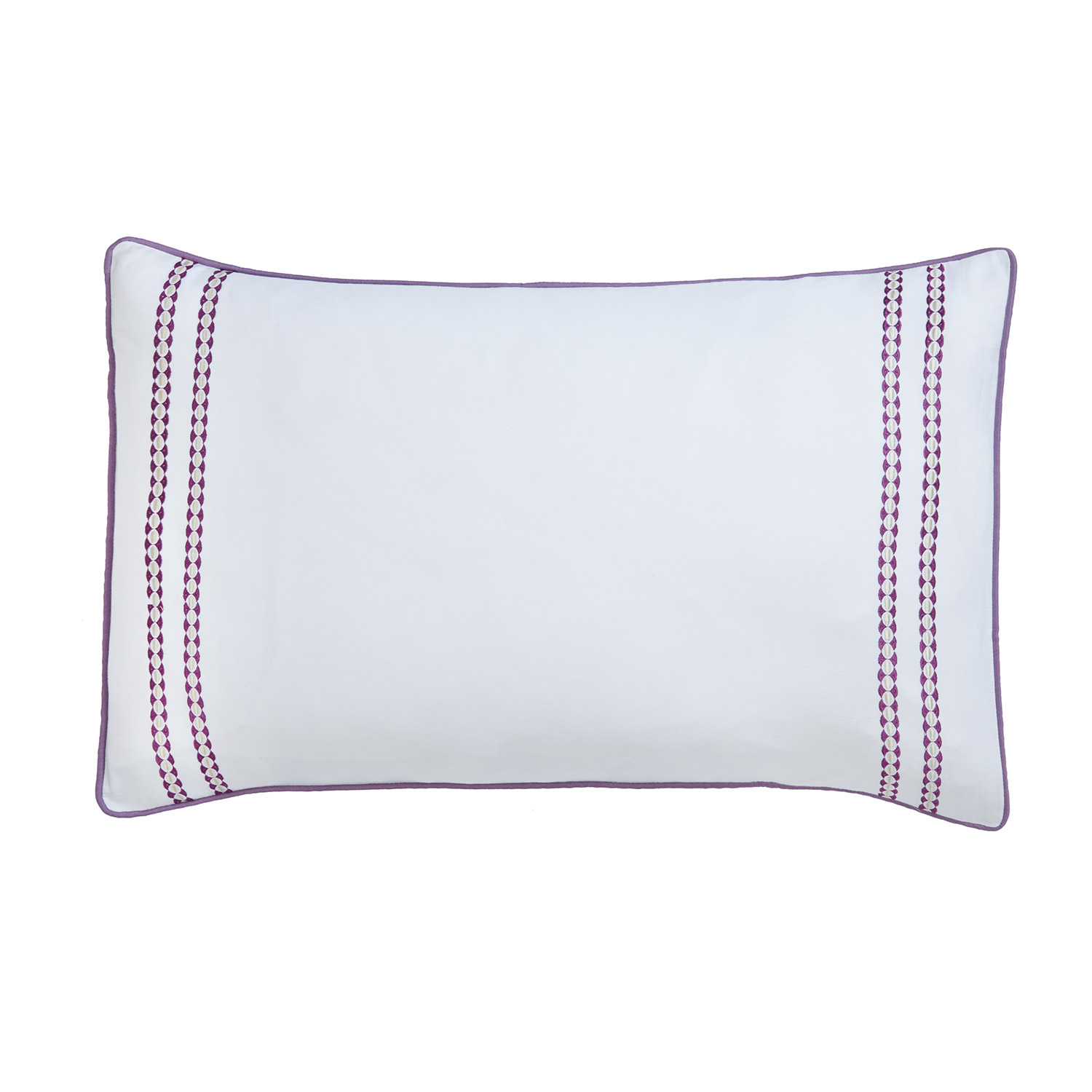 Stockists of Abigail Plum Pure Cotton Embroidered Housewife Pillow Cases (Pair)