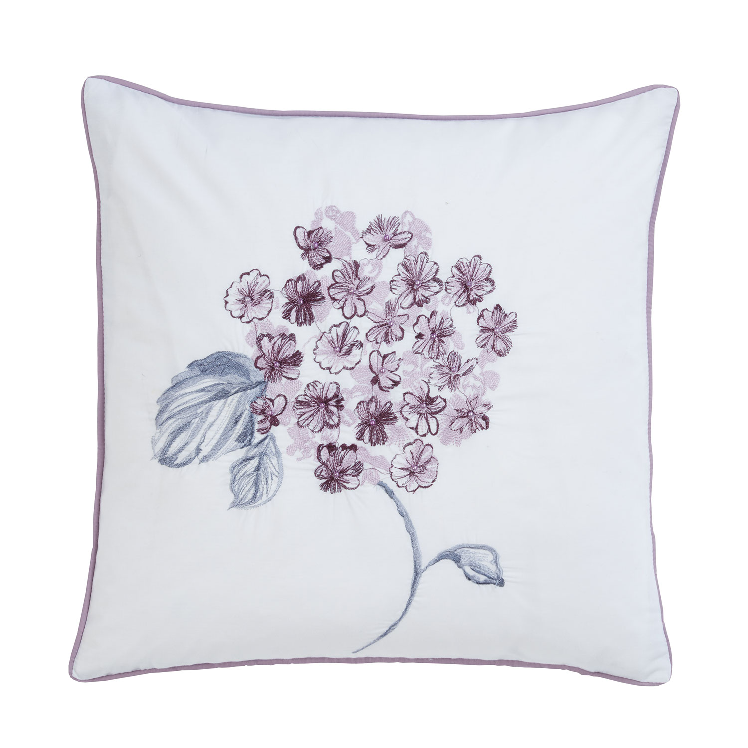 Abigail Plum Pure Cotton Luxury Filled Square Cushion
