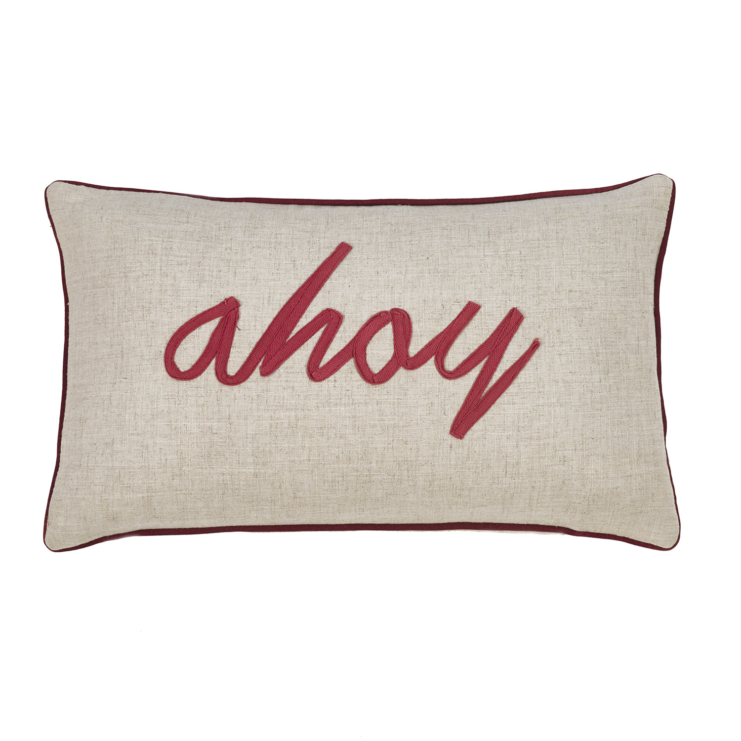Ahoy Linen Filled Boudoir Cushion