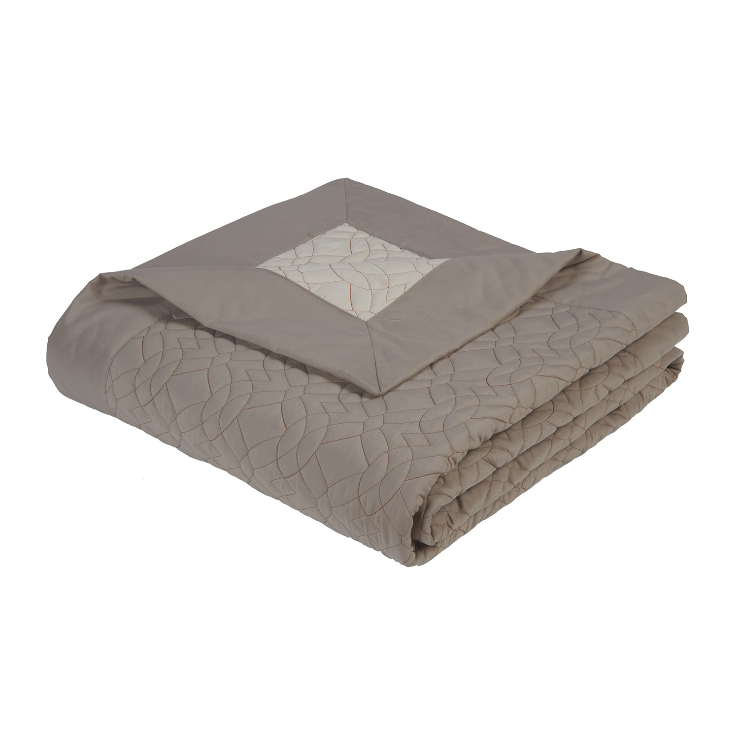Alex Luxury Embroiderd Quilted Throw