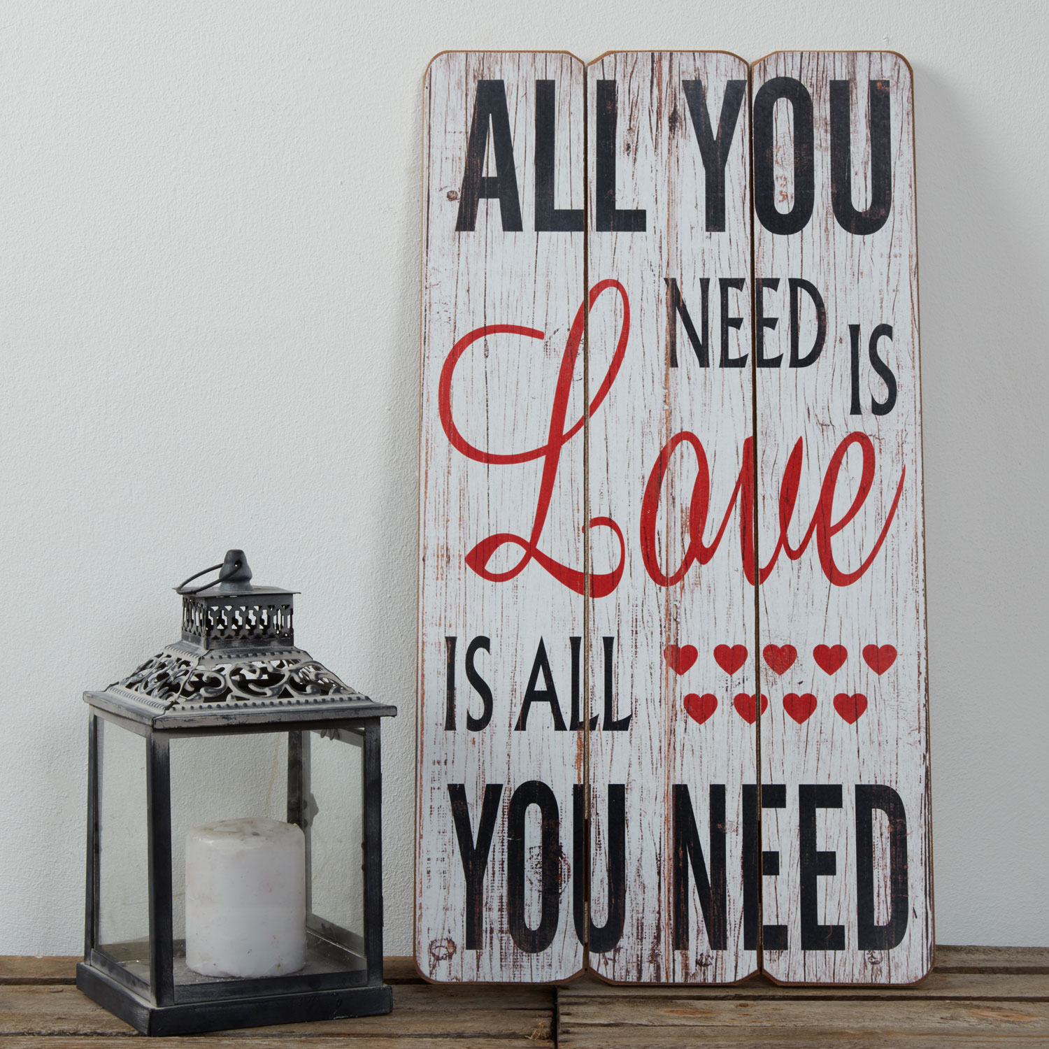 Stockists of All You Need Is Love Wooden Plaque