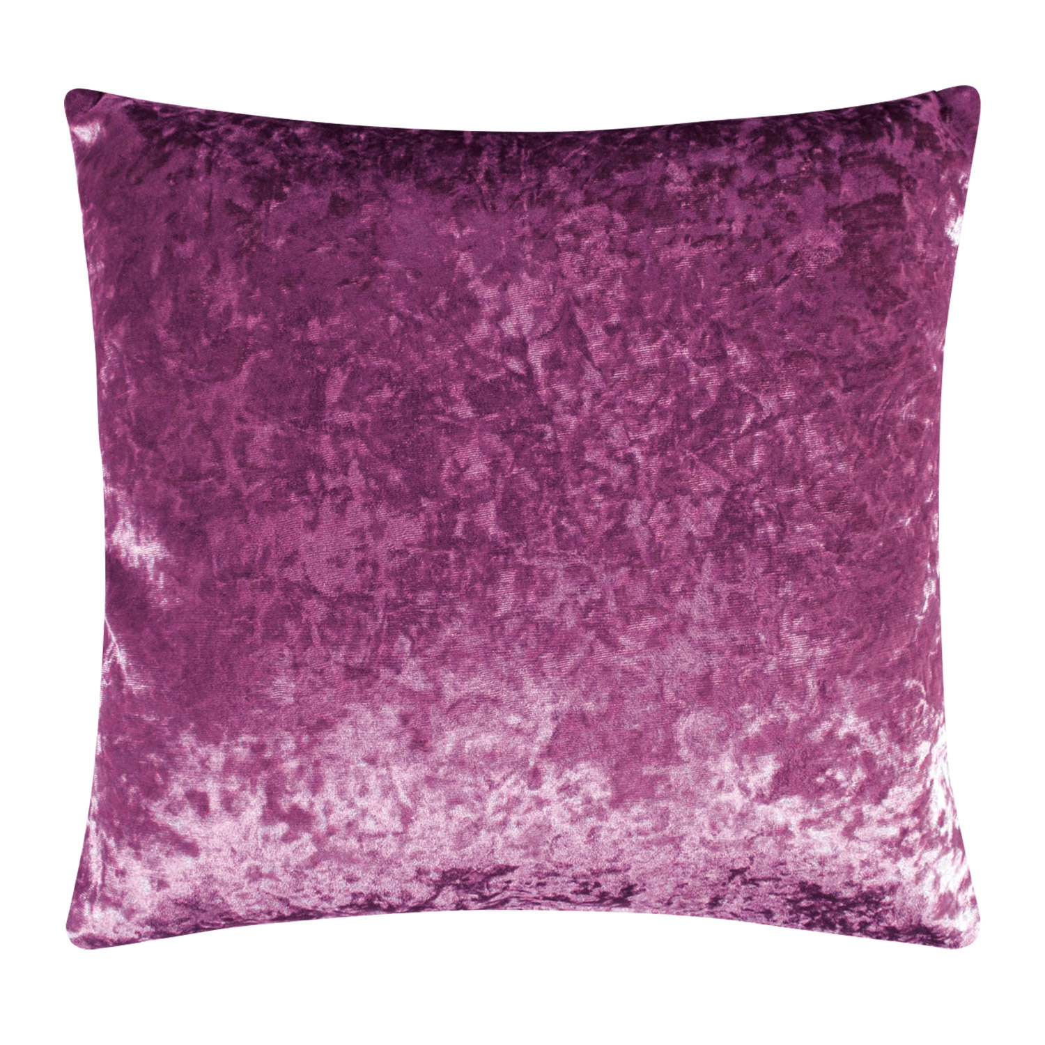 Elegance Allure Plum Crushed Velvet Luxury Filled Square Cushion