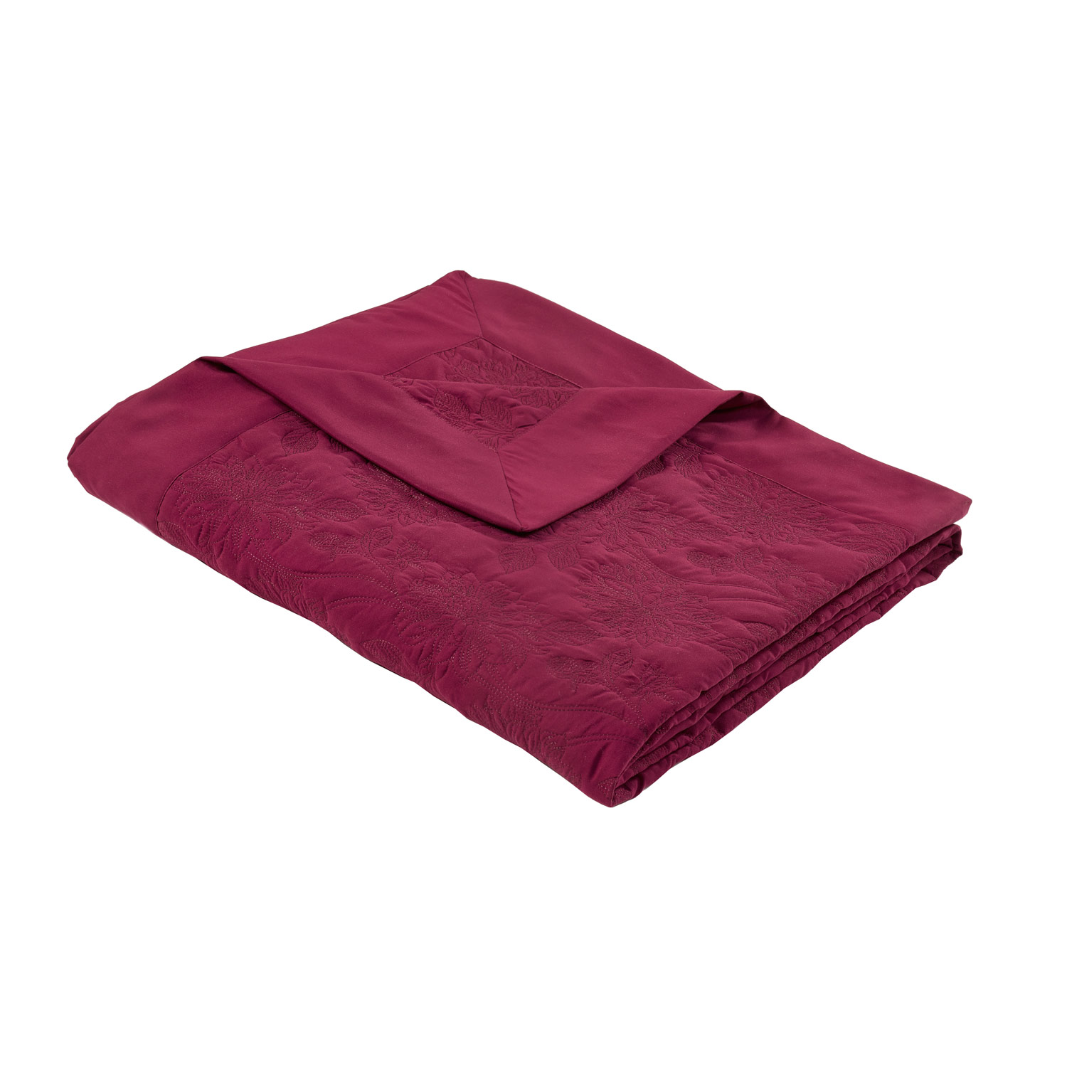 Annabelle Raspberry Quilted Luxury Throw
