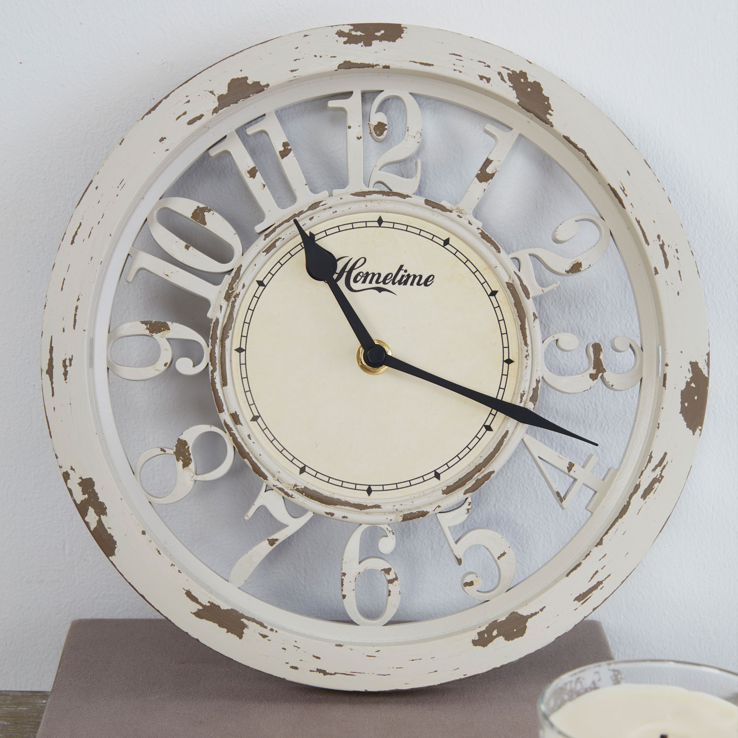 Antique Cream Arabic Dial Wall Clock
