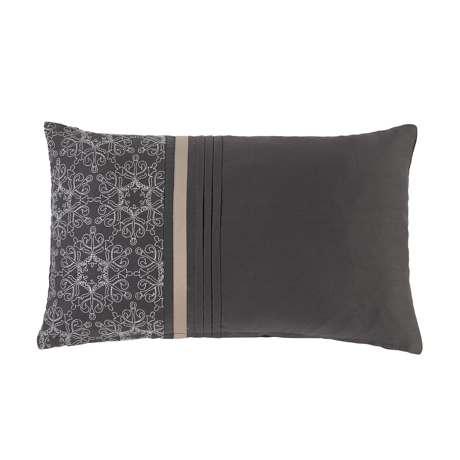 Stockists of Ashford Silver Luxury Filled Boudoir Cushion