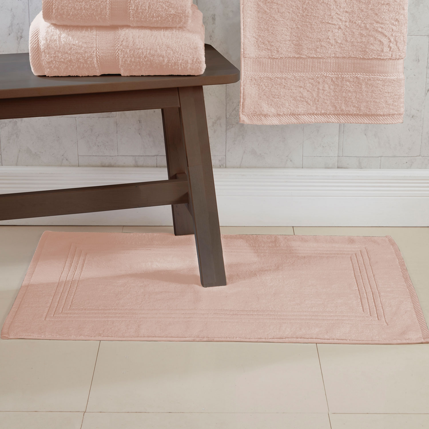 Blush 600gsm Egyptian Cotton Luxurious Bath Mat