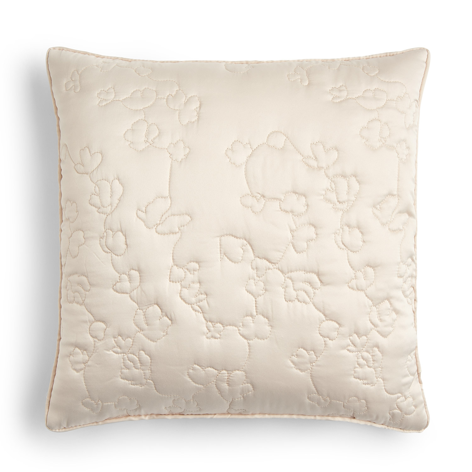 Blossom Natural Luxury Quilted Square Cushion Cover