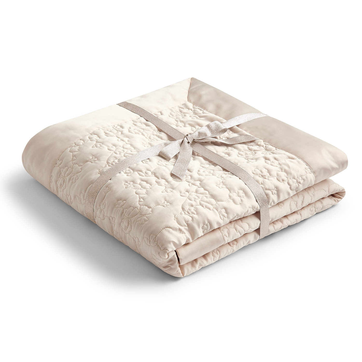 Blossom Natural Luxury Quilted Throw