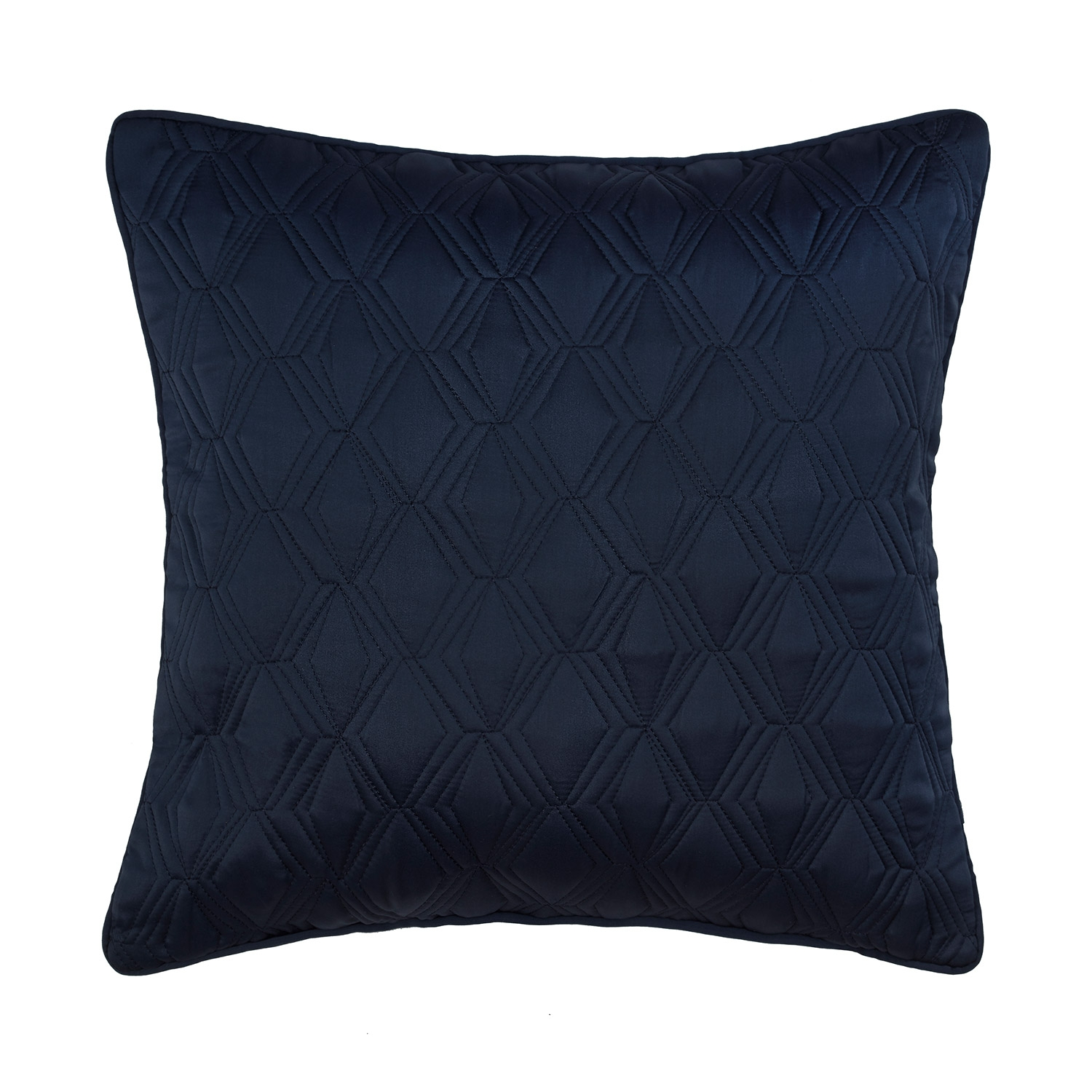Blossom Navy Luxury Quilted Square Cushion Cover