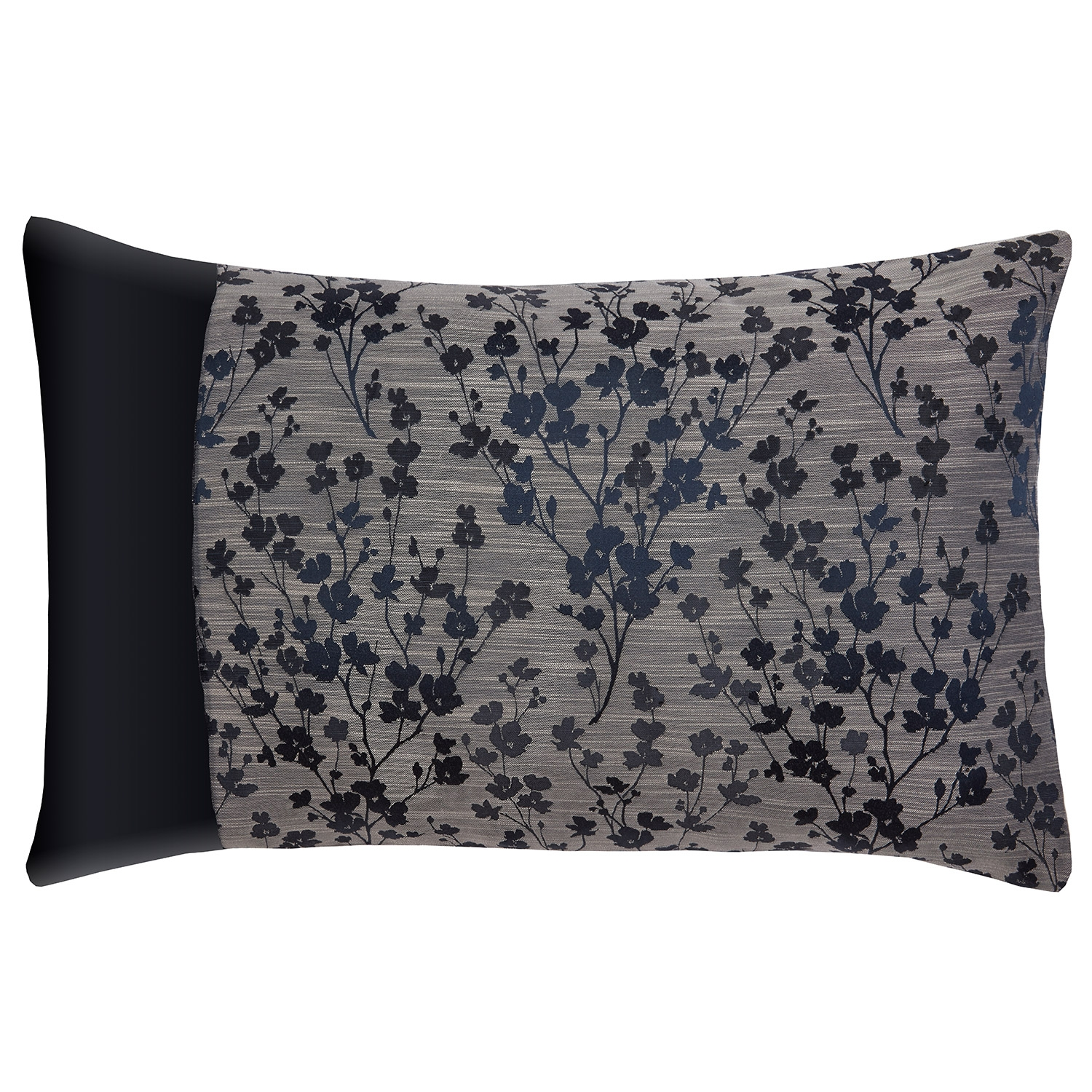 Blossom Navy Floral Jacquard Housewife Pillowcases (Pair)