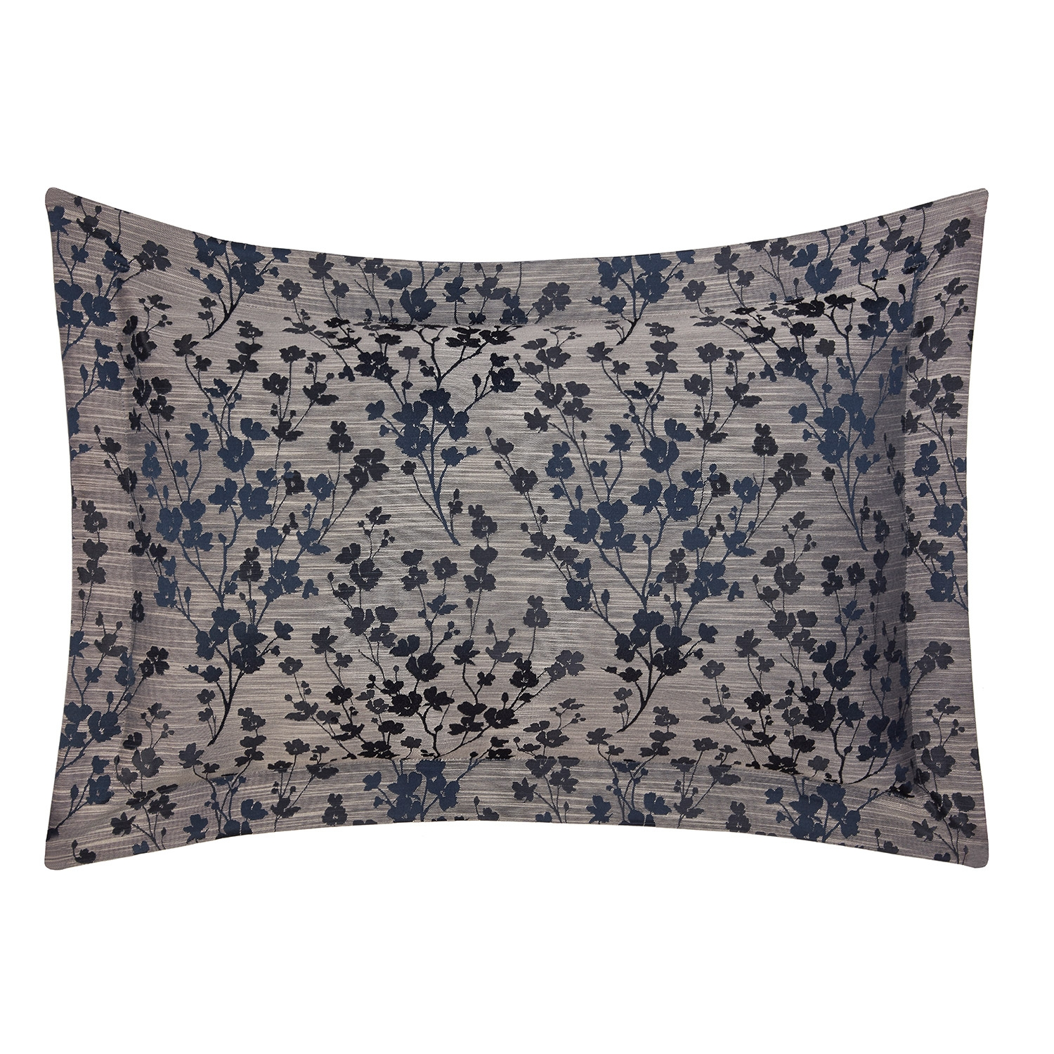Blossom Navy Floral Jacquard Oxford Pillowcases (Pair)