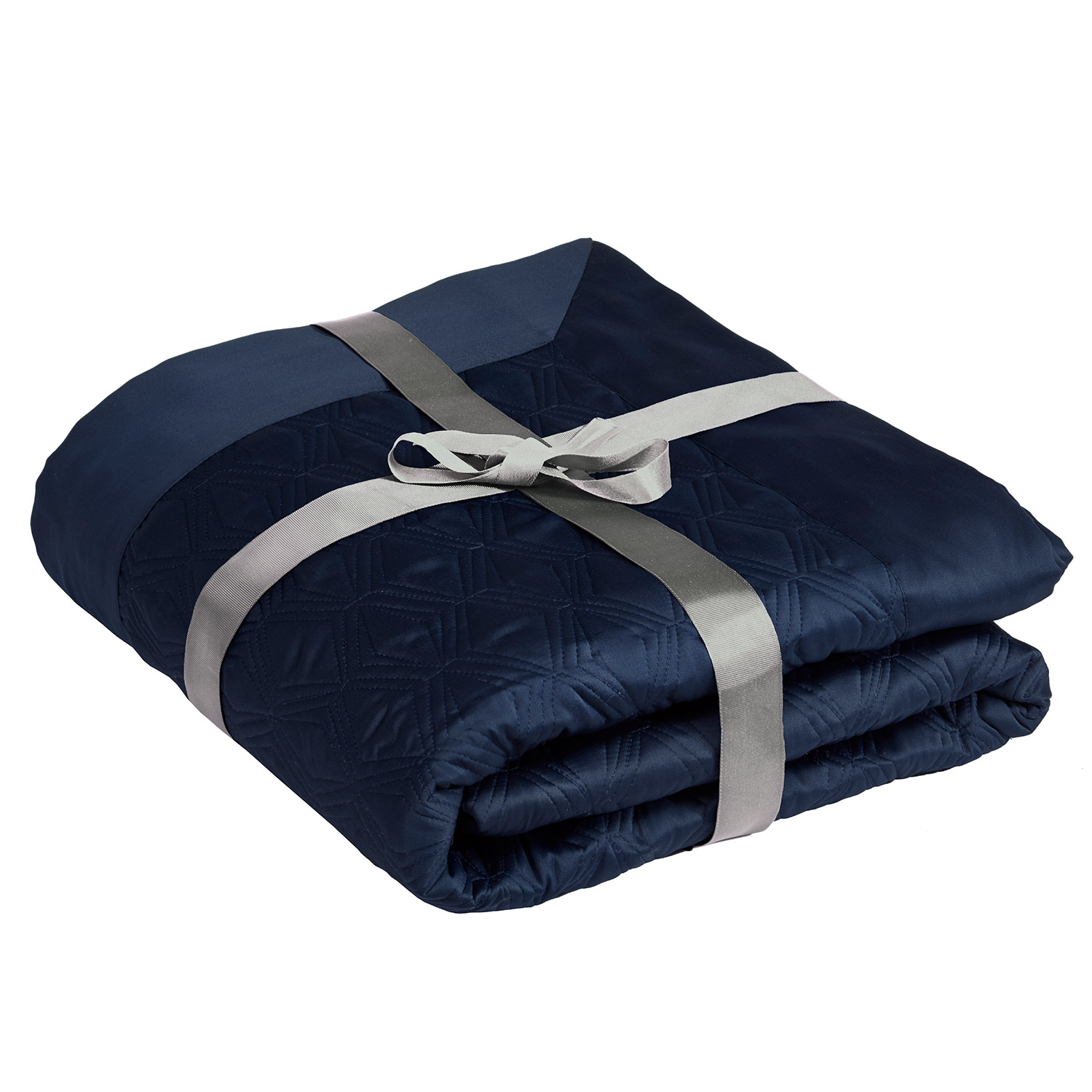 Blossom Navy Luxury Quilted Throw