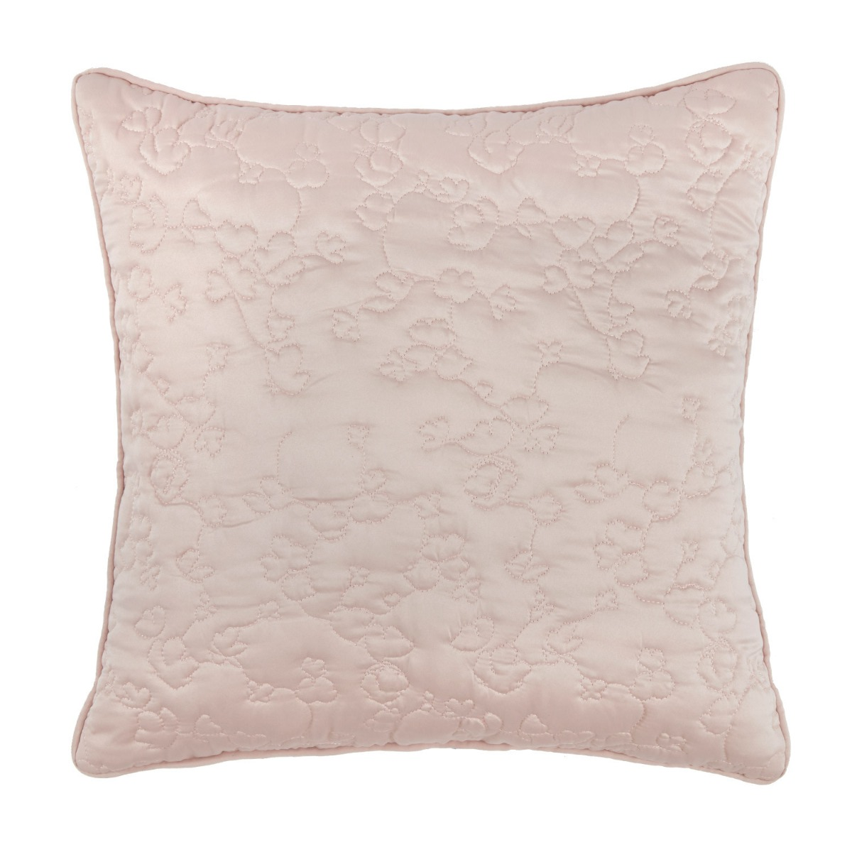 Blossom Pink Luxury Quilted Square Cushion Cover