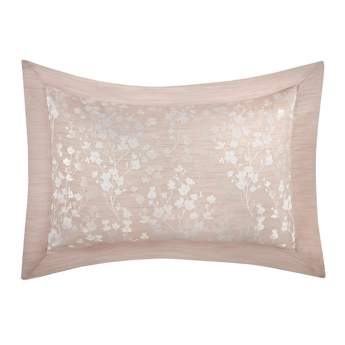 Blossom Pink Floral Jacquard Oxford Pillowcases (Pair)