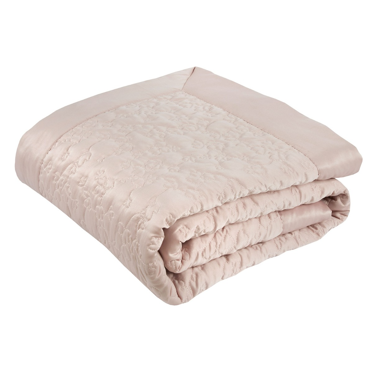 Blossom Pink Luxury Quilted Throw