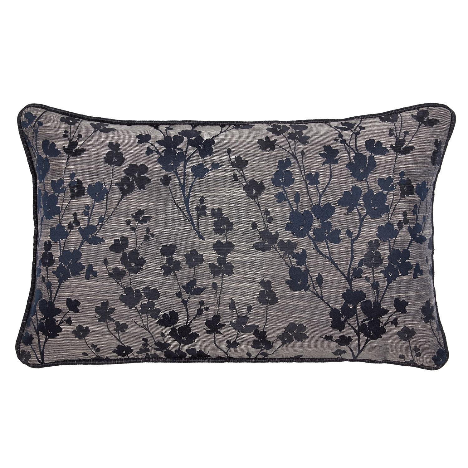 Blossom Navy Luxury Filled Boudoir Cushion