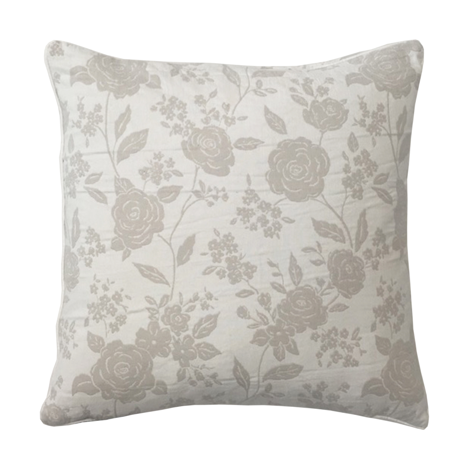Bronte Natural Embroidered Filled Square Cushion