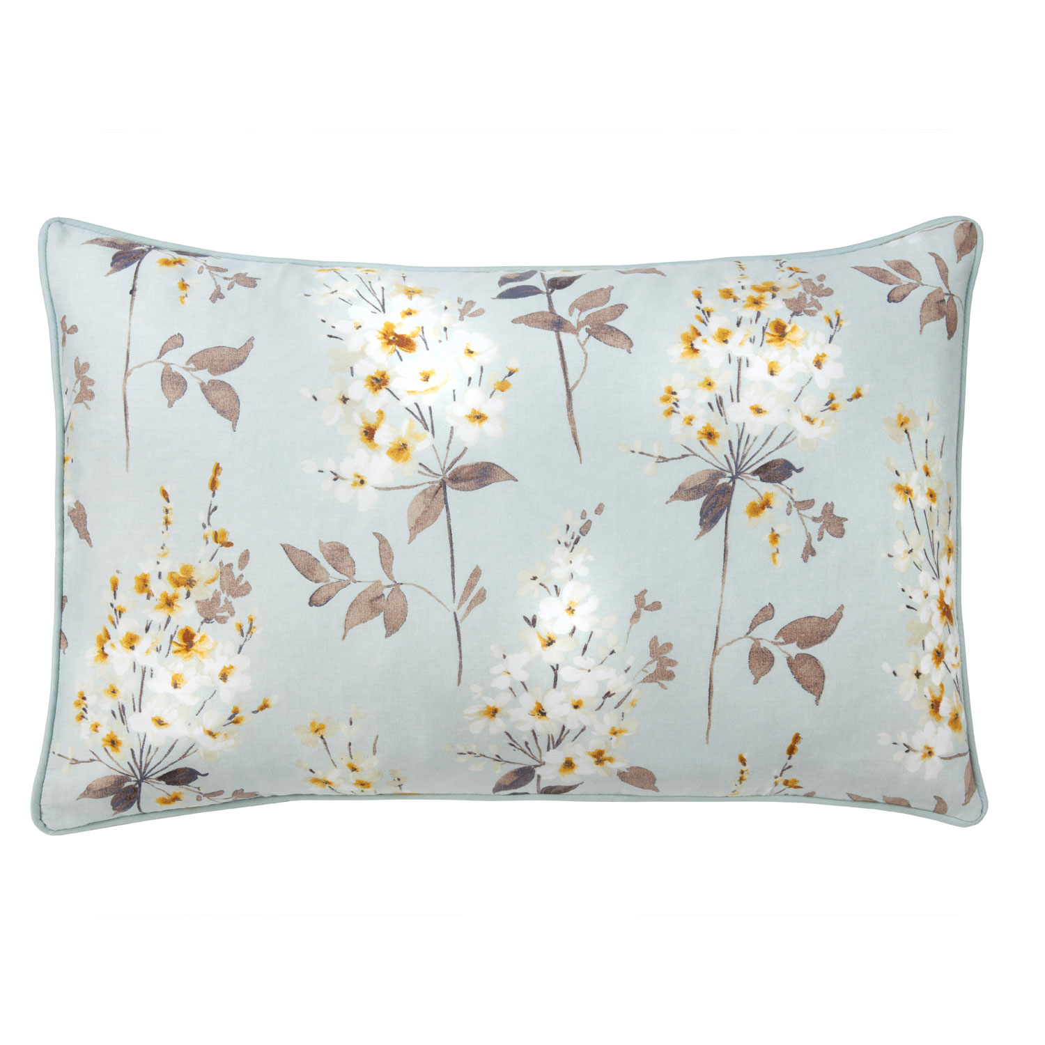 Camille Duck Egg Pure Cotton Reversible Housewife Pillow Cases (Pair)