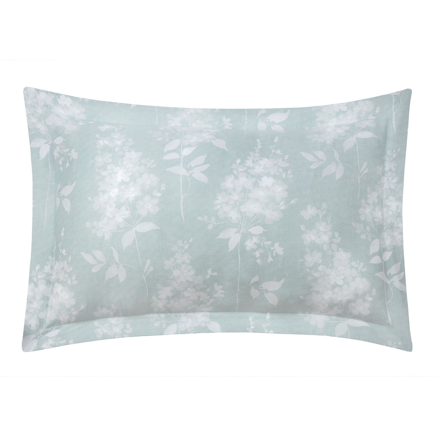 Camille Duck Egg Pure Cotton Reversible Oxford Pillow Cases (Pair)