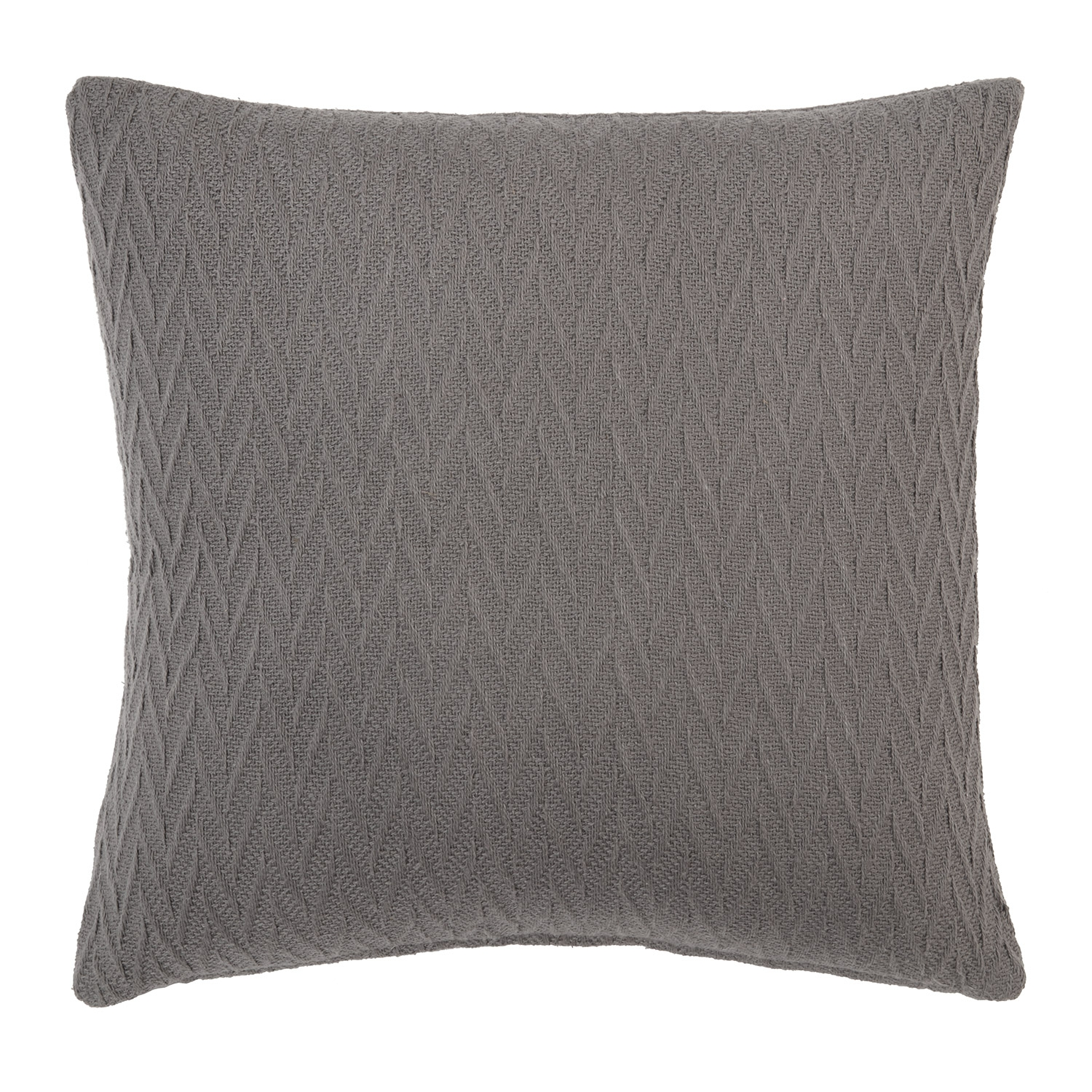 Casey Charcoal Pure Cotton Filled Square Cushion