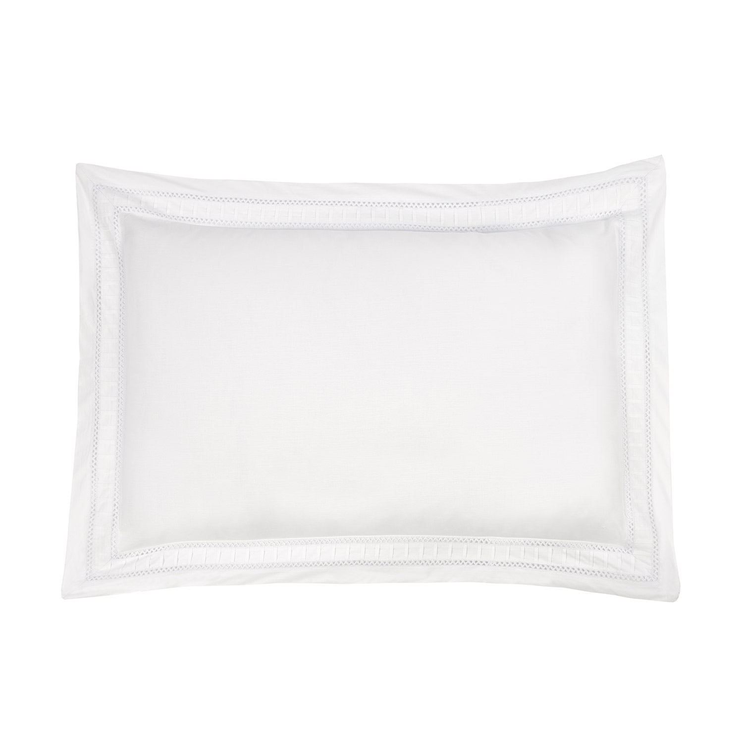 Cleo White Embroidered Luxury Oxford Pillow Cases (Pair)