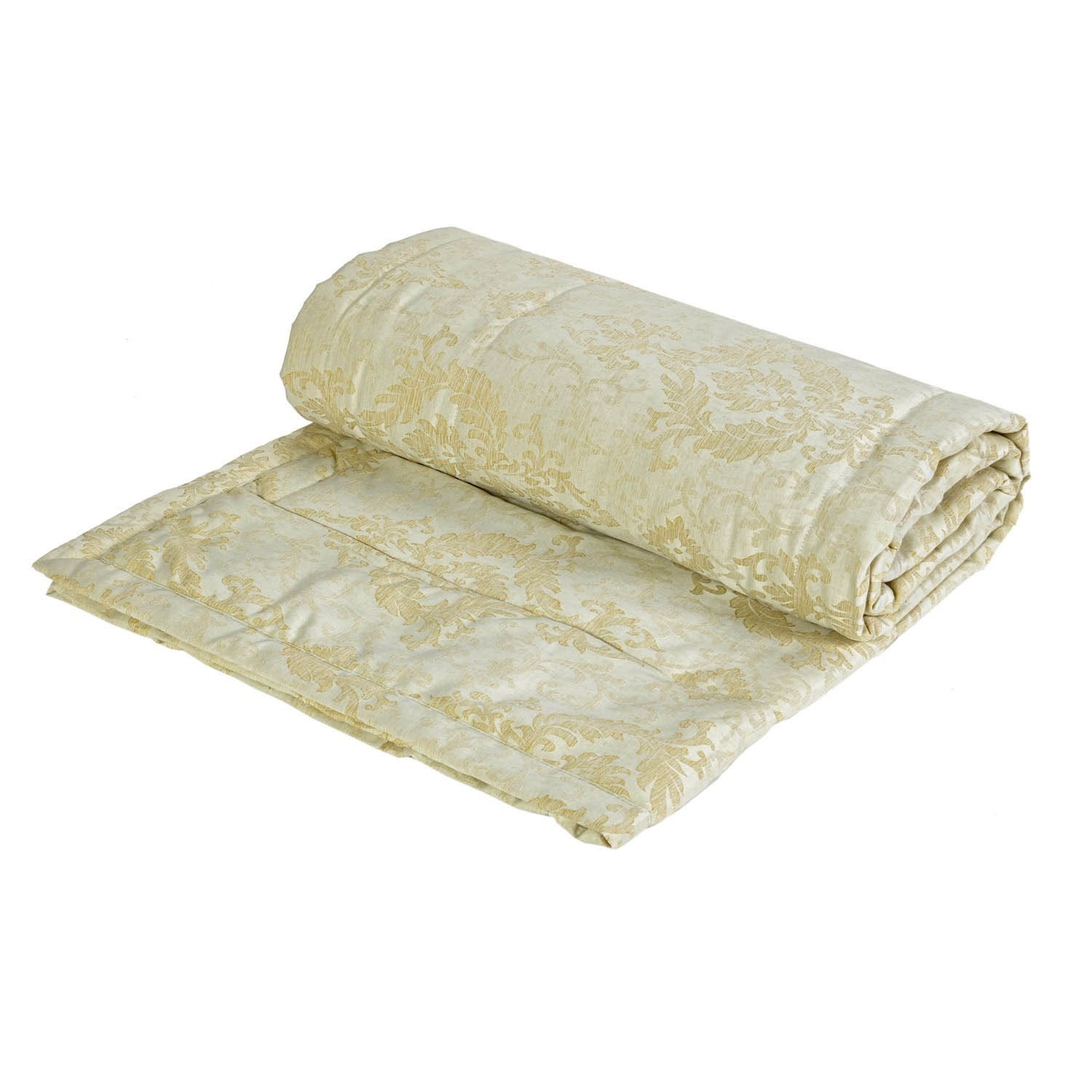 Florence Natural Luxury Jacquard Quilted Large Throw