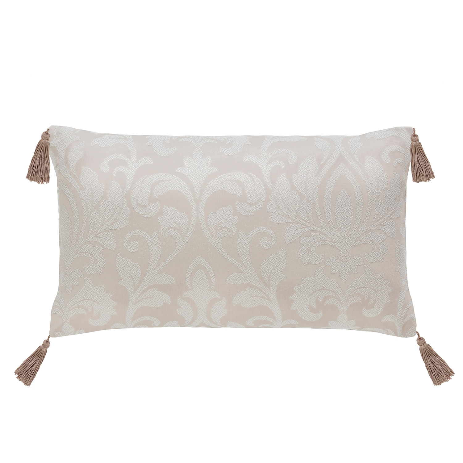 Gosford Linen Damask Jacquard Luxury Filled Boudoir Cushion