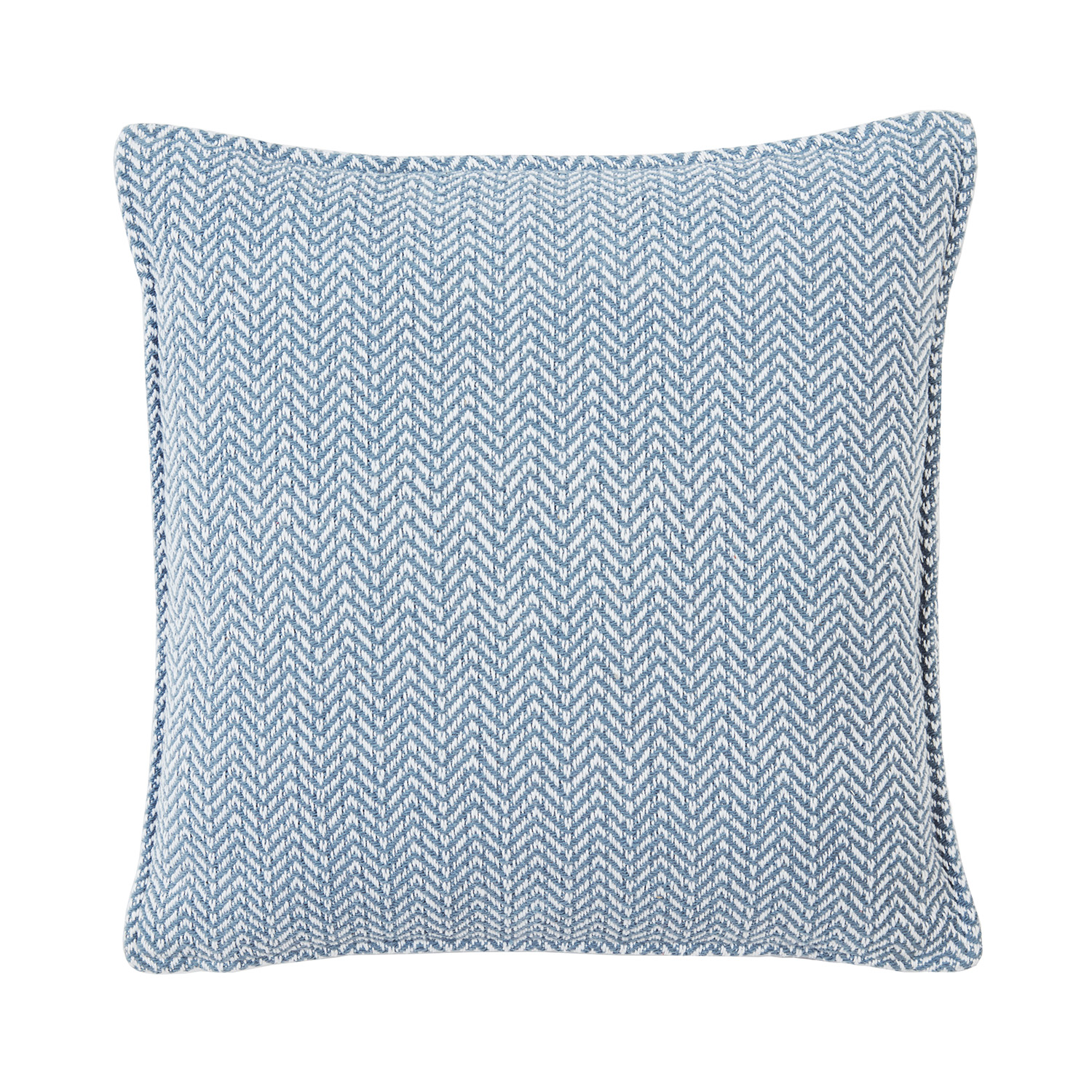 Hanover Blue Luxury Woven Textured Cotton Filled Square Cushion