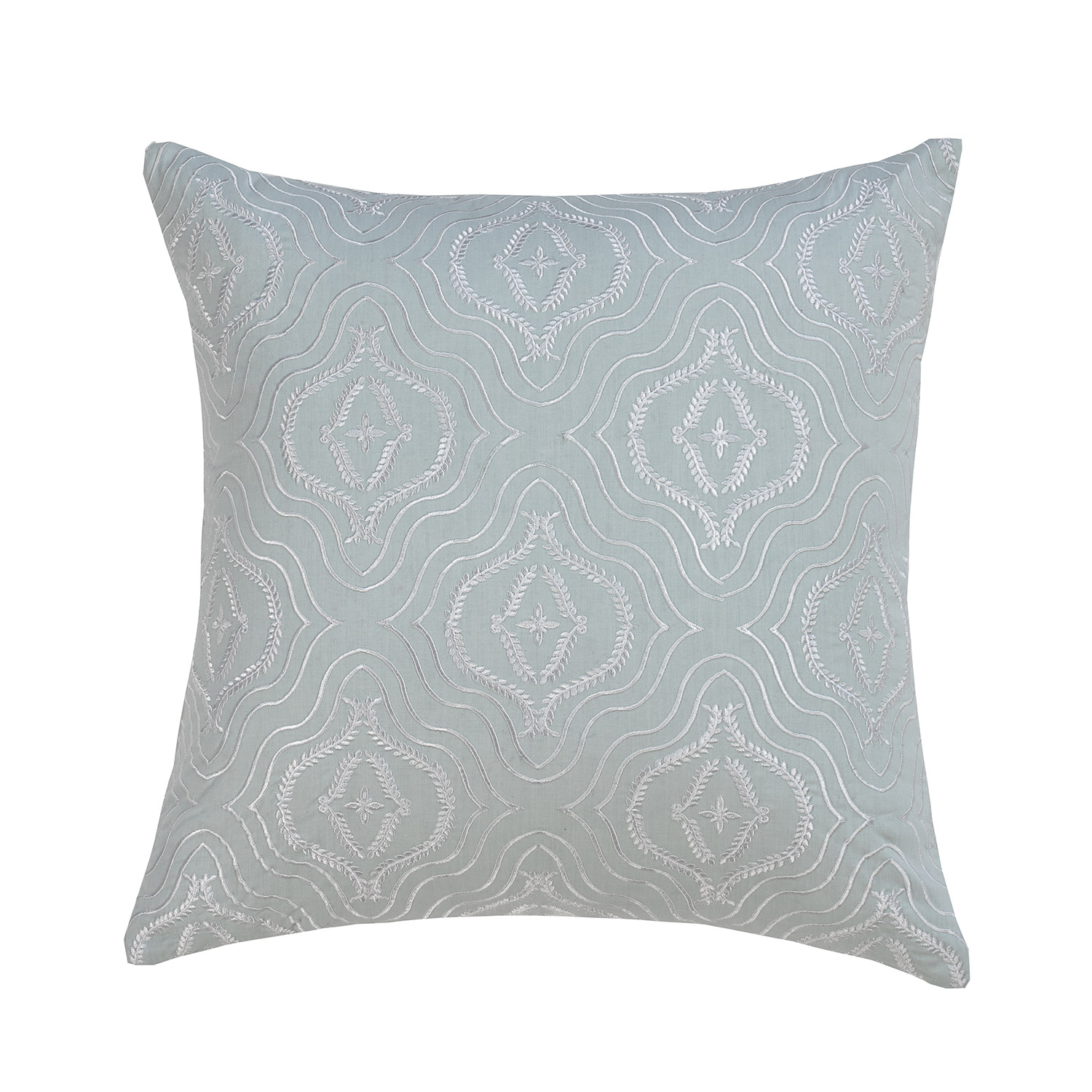 Harmony Duck Egg Floral Filled Square Cushion