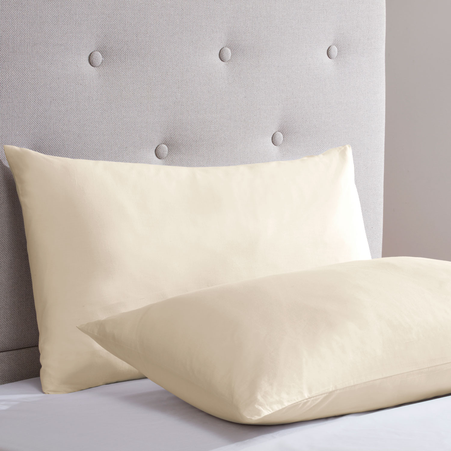 Champagne Cotton Rich Percale Easy Care Housewife Pillowcases (Pair)