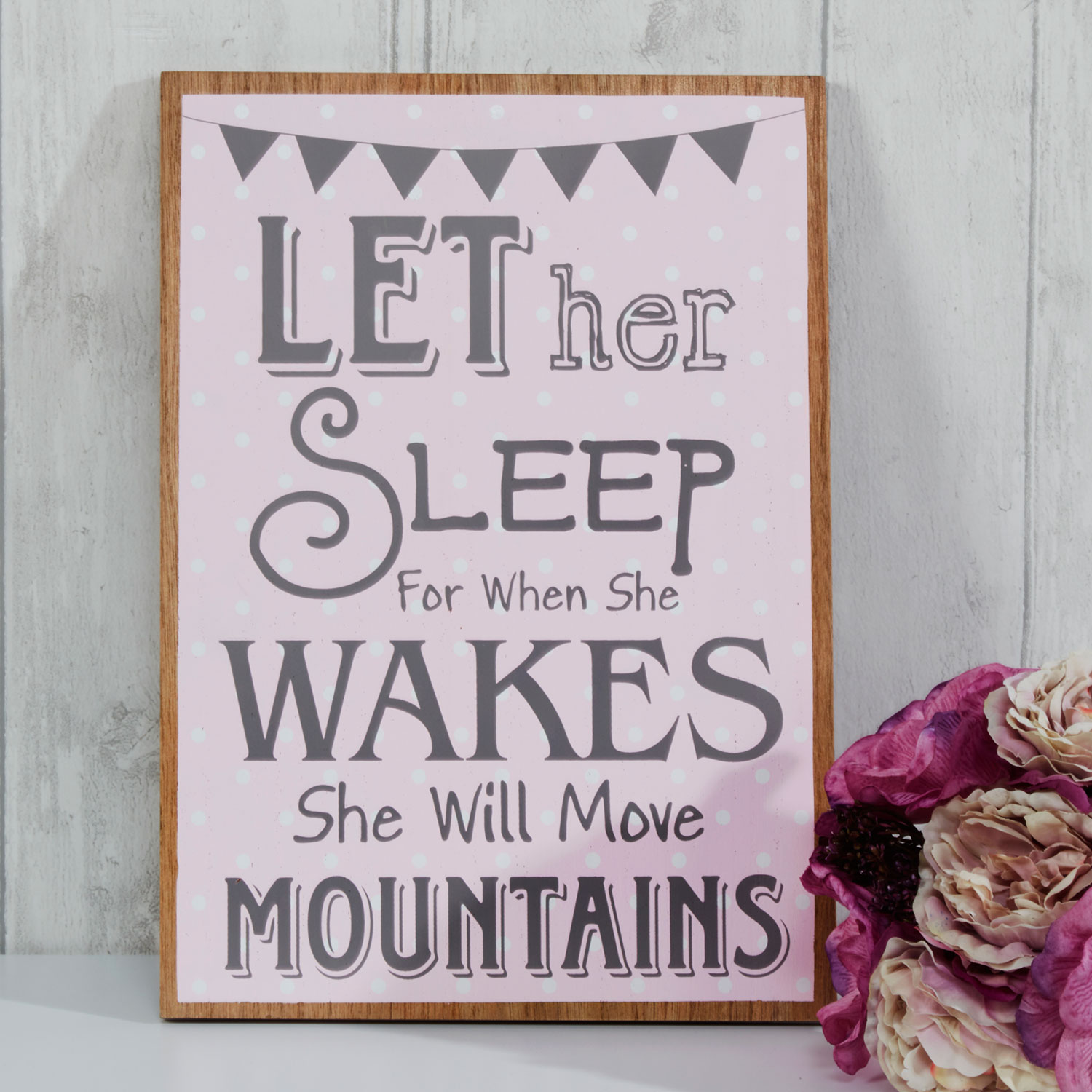 Stockists of Baby Girl Pink Wooden Sign