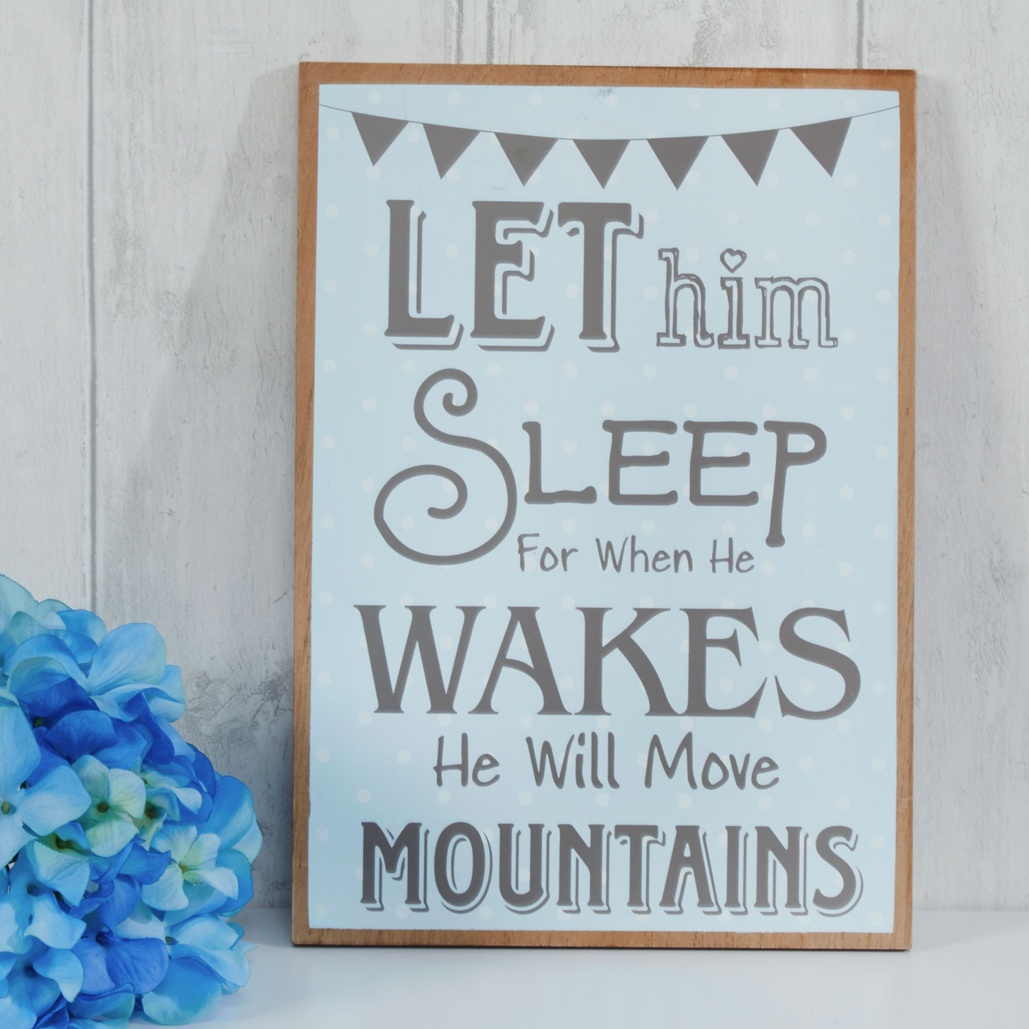 Stockists of Baby Blue Wooden Sign