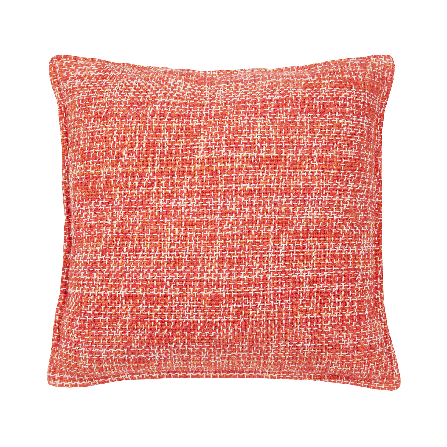 Mika Coral Luxury Woven Texture Cotton Filled Square Cushion