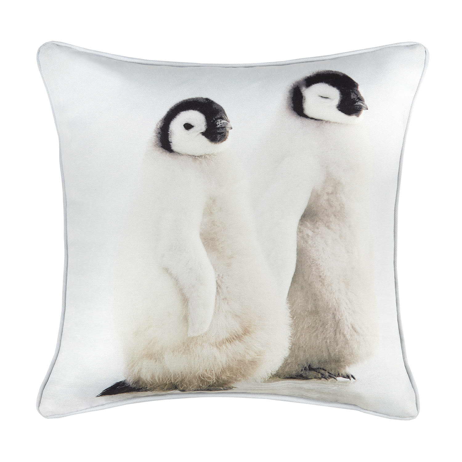 Christmas Penguin Hollowfibre Filled Square Cushion