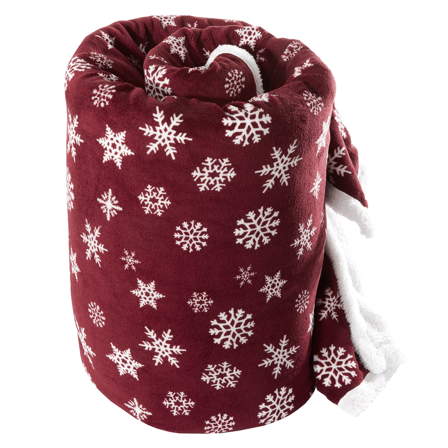 Snowflake Mulberry Fleece Throw
