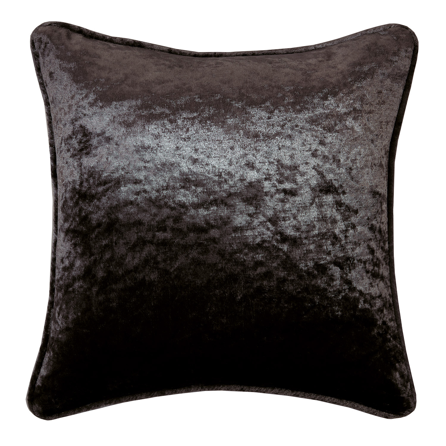 Allure Charcoal Crushed Velvet Filled Square Cushion