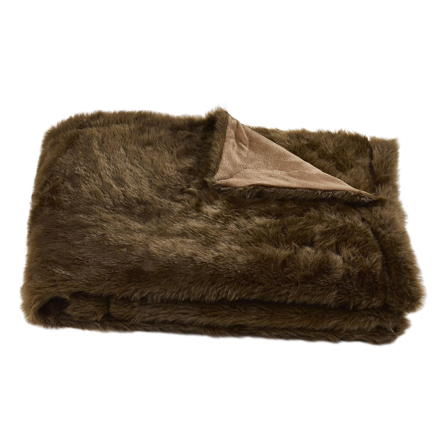 Alaska Fur Chocolate Luxury Throw