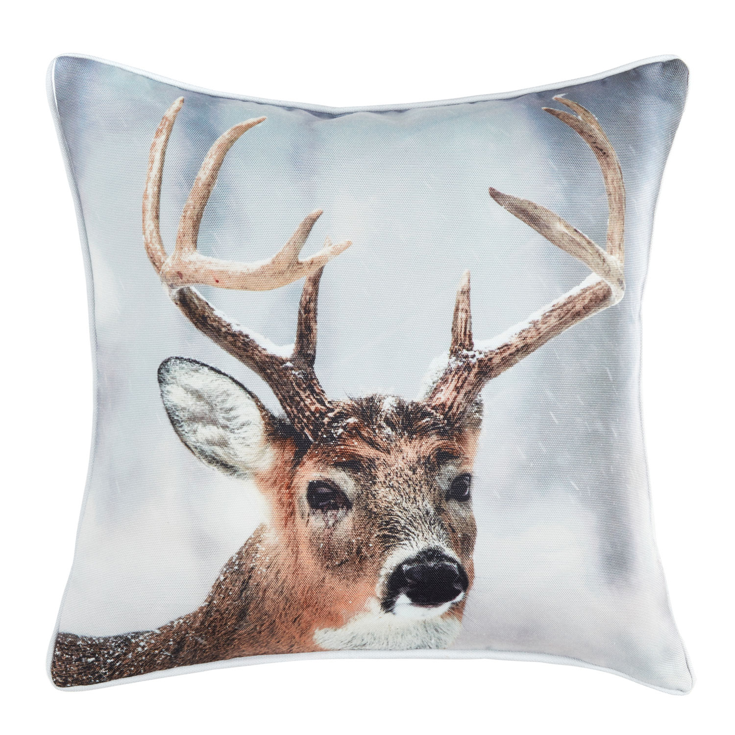 Christmas Stag Square Hollowfibre Filled Cushion